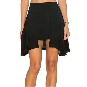 Free People Black New York Hi-Lo Mini Skirt
